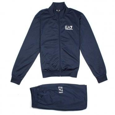 5c5e65a61ea Emporio Armani EA7 Reflective Logo Tracksuit Navy Blue