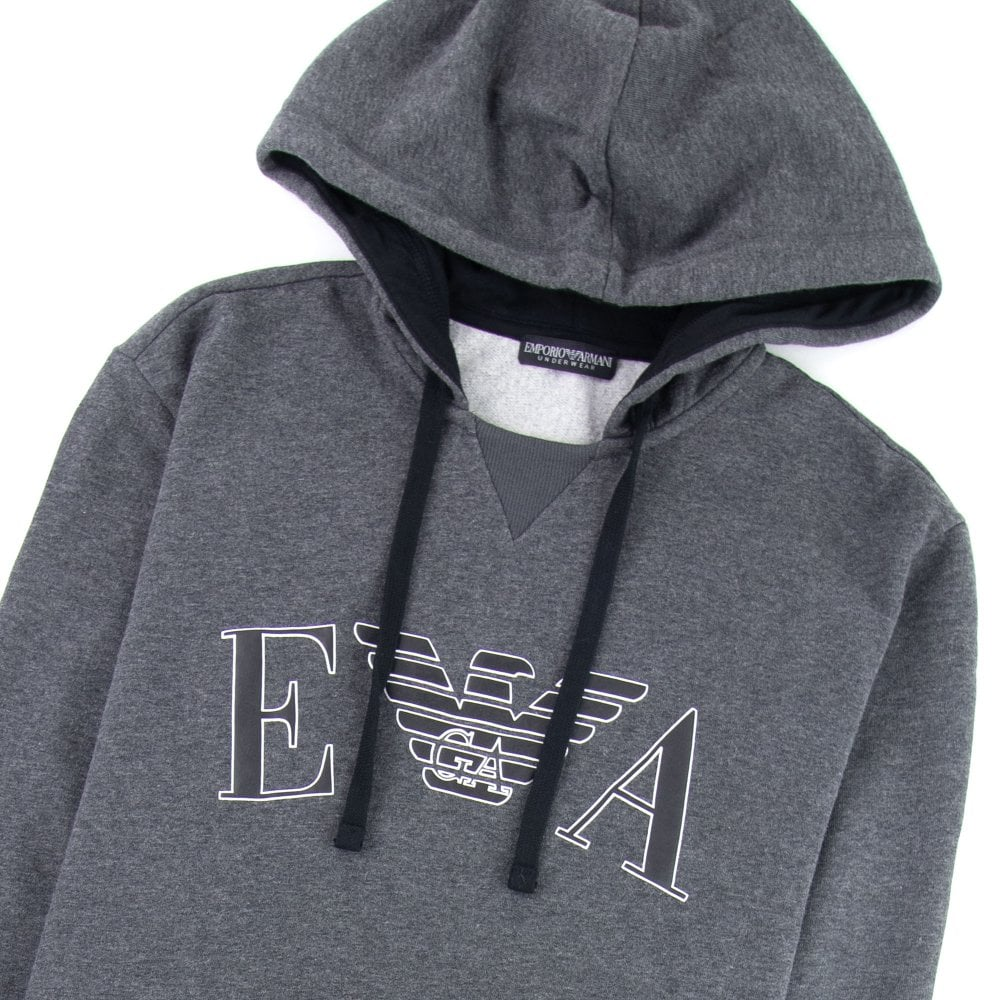 EA7 Junior Dark Grey Melange Motif T-Shirt