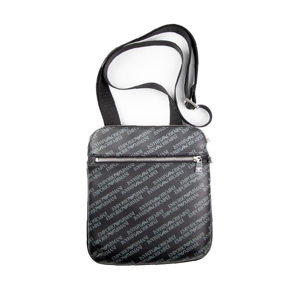 Emporio Armani Pattern Messenger Bag Black  40851dc7b5f9a