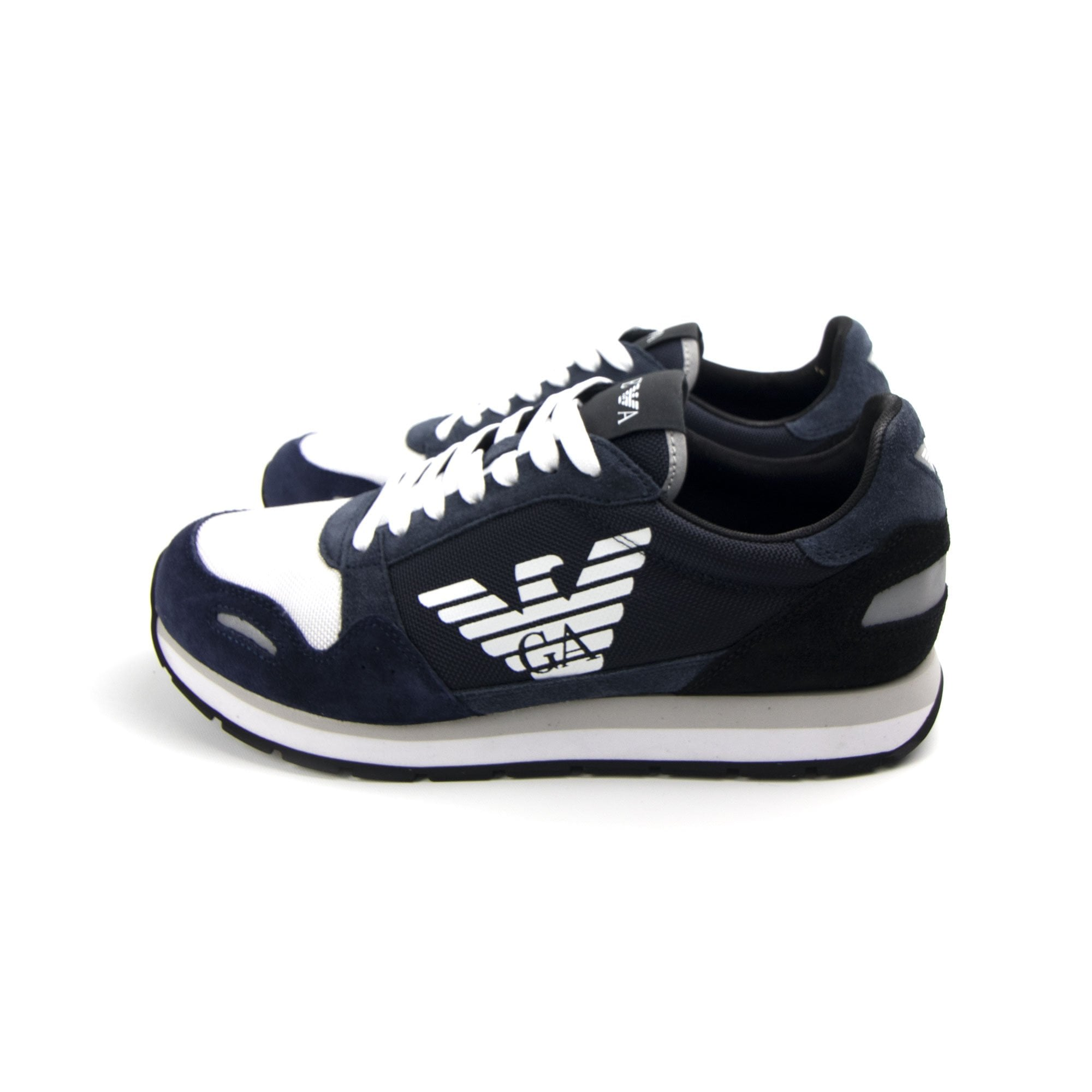 Emporio Armani Runner Eagle Shoe Blue | ONU