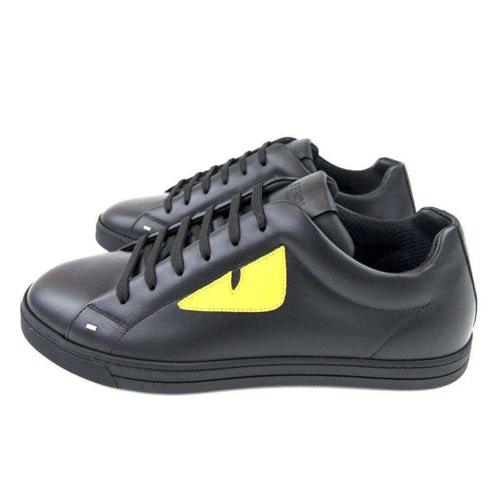 Fendi Bug Eye Sneaker Nero/yellow | ONU