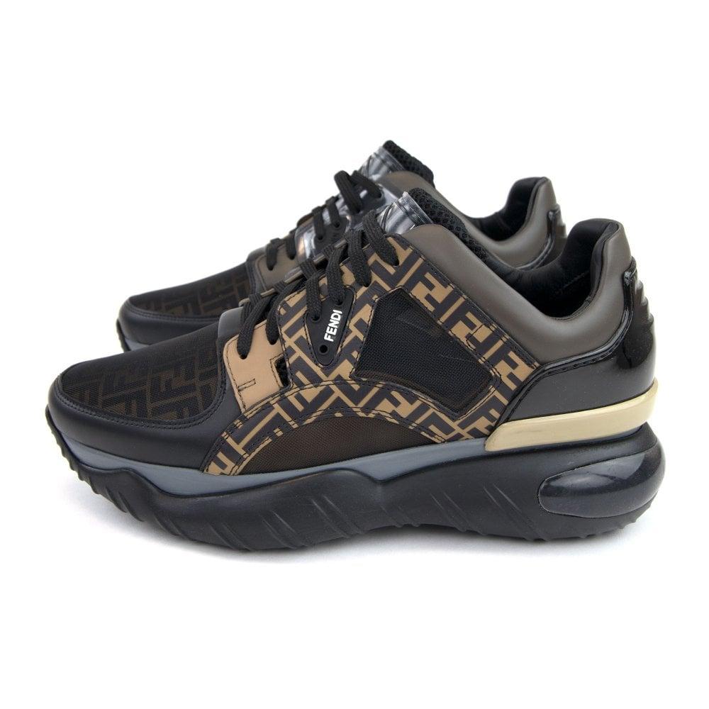 timeless design cfc4d 172c9 FF Logo Low Top Sneakers Black