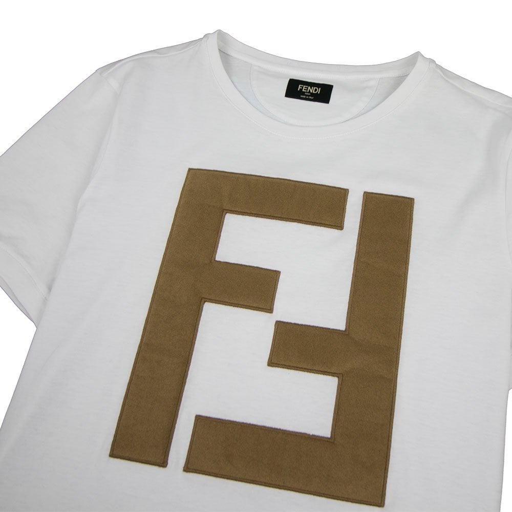 Leather FF Logo T-Shirt White