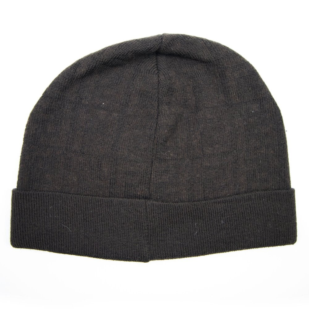 33b2798c Fendi Subtle FF Logo Beanie Hat Brown | ONU
