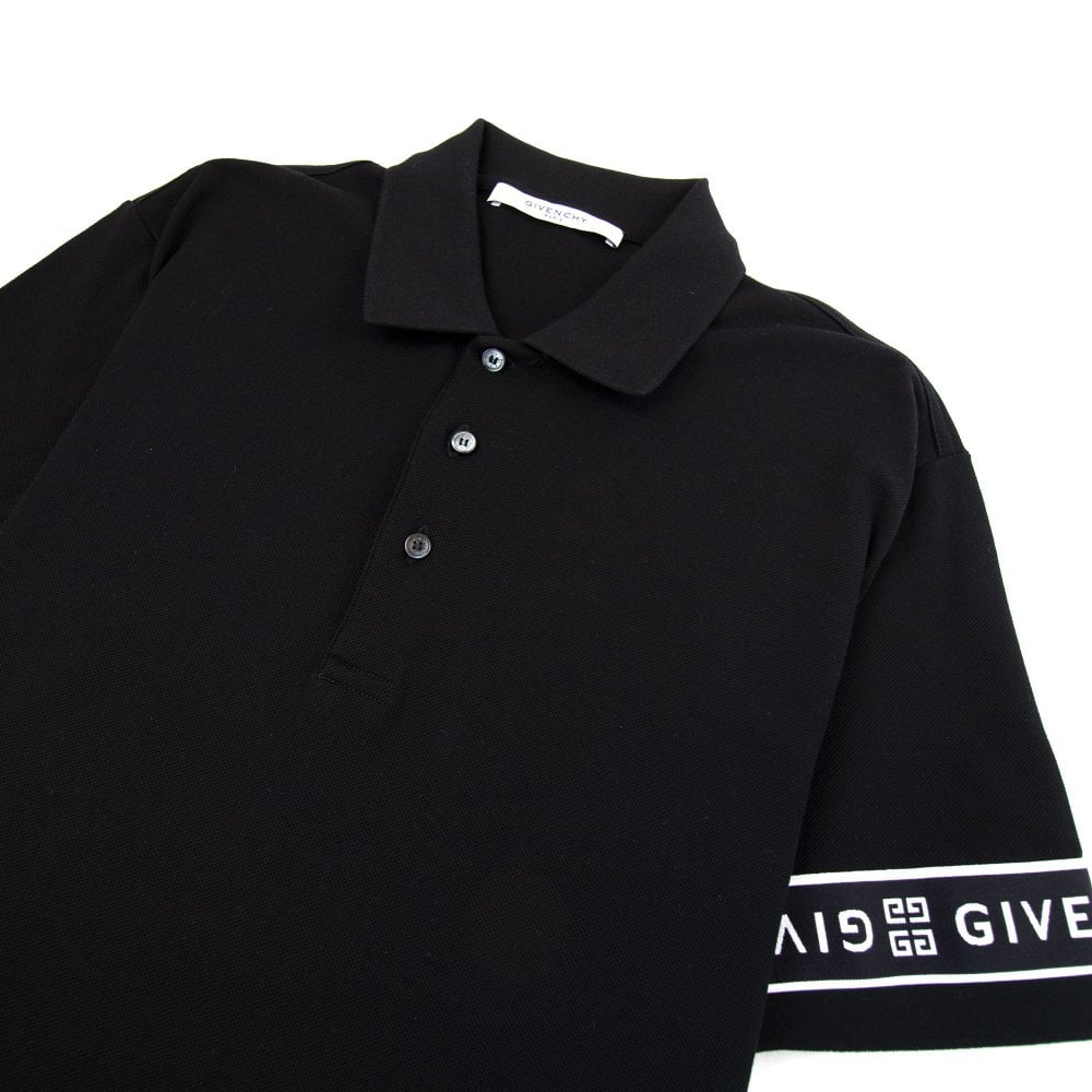 huge selection of 0a05a bf86d 4G Band Slim Fit Polo Black