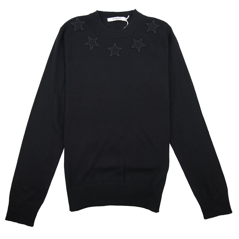 7c22013116df Givenchy Knitted Stars Jumper Black