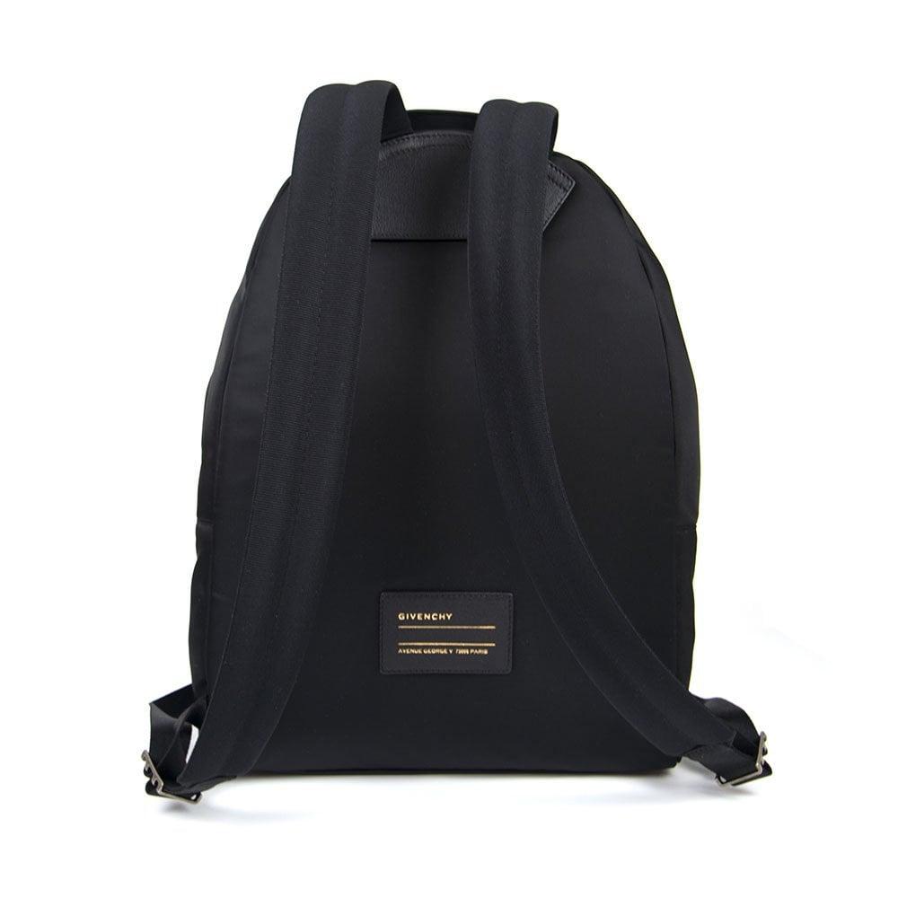 Givenchy Urban Nylon Logo Backpack Black White  95a7c074ce147