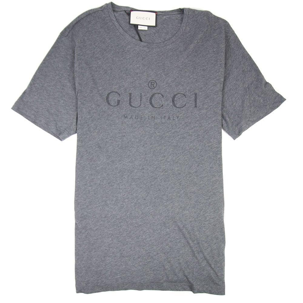 f467606bb892 Gucci Classic Logo T-shirt Dark Grey | ONU
