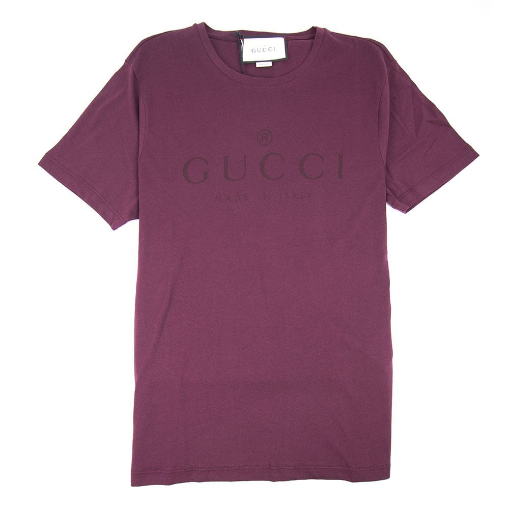 79970982 Gucci Classic Logo T-shirt Wine | ONU