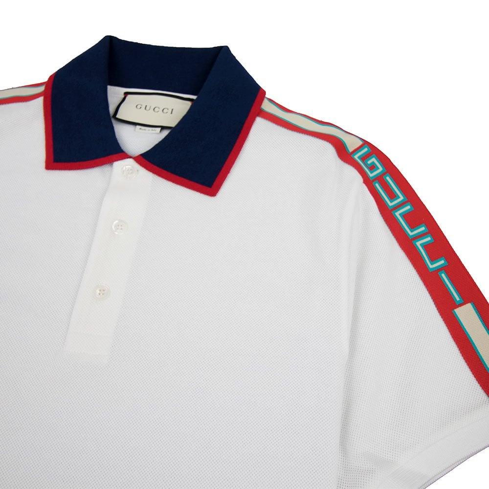 12d1be31 Gucci Cotton Polo Shirt With Gucci Stripe White | ONU