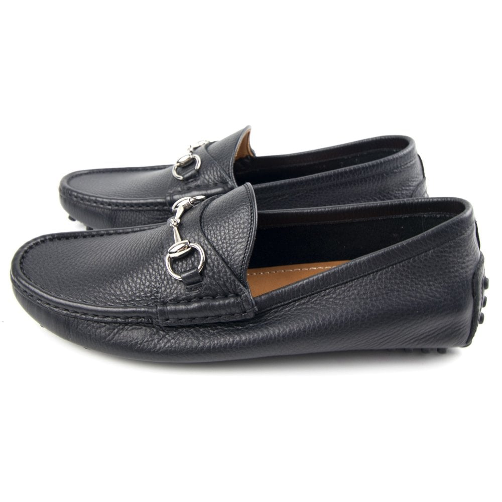Gucci Driver Loafer with Buckle Black   ONU