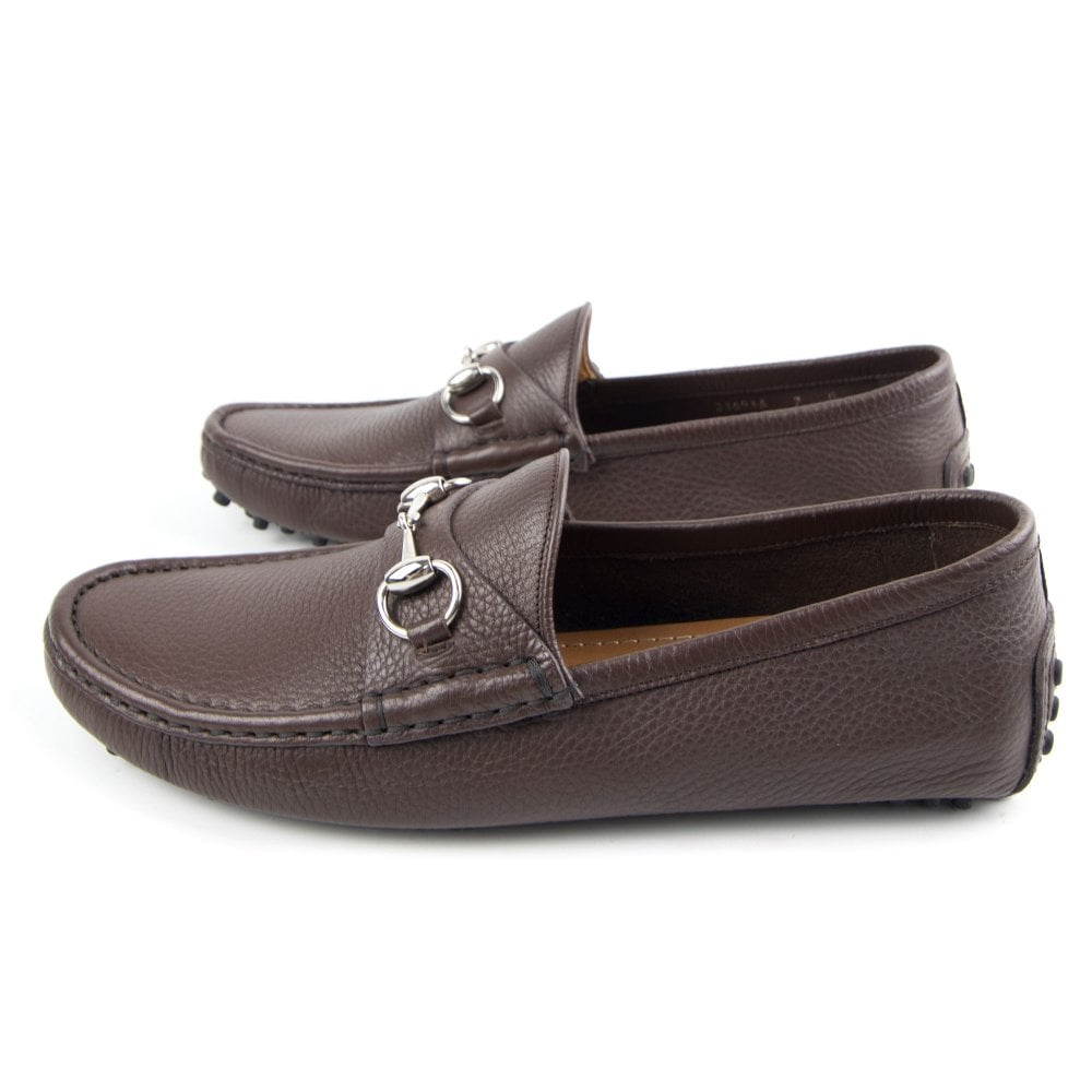 Gucci Driver Loafer with Buckle Brown | ONU