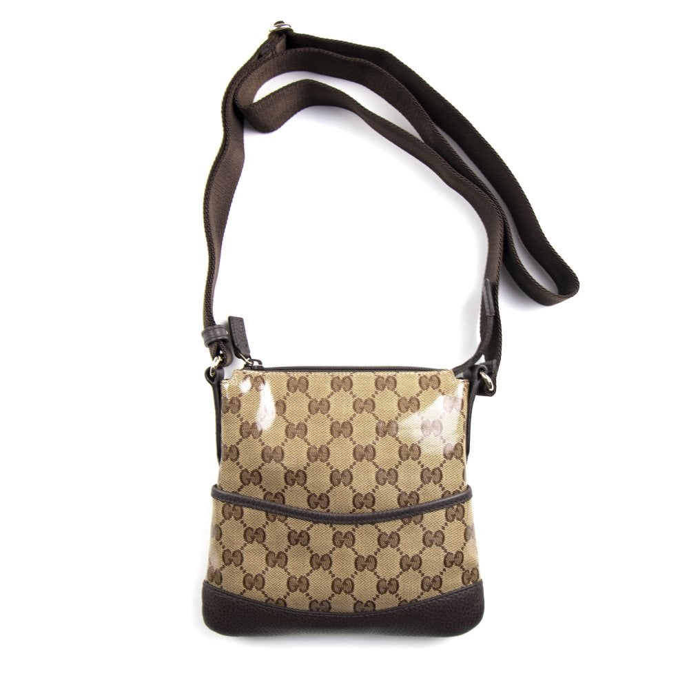 52e84ac4c Gucci GG Shiny Monogram Bag Brown | ONU
