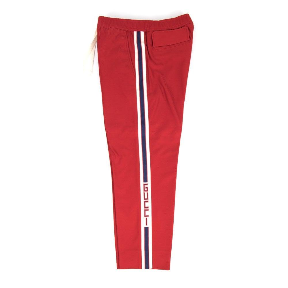 7cec4d817 Gucci Jogging Pant With Gucci Stripe Red | ONU