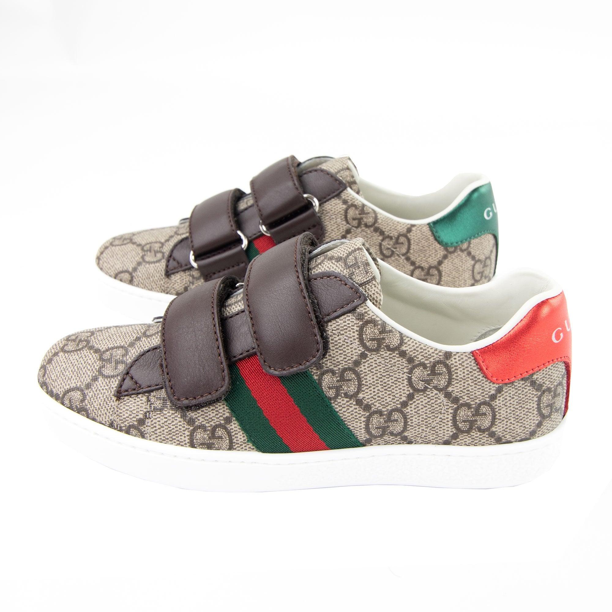 Gucci Junior Ace Gg Velcro Supreme