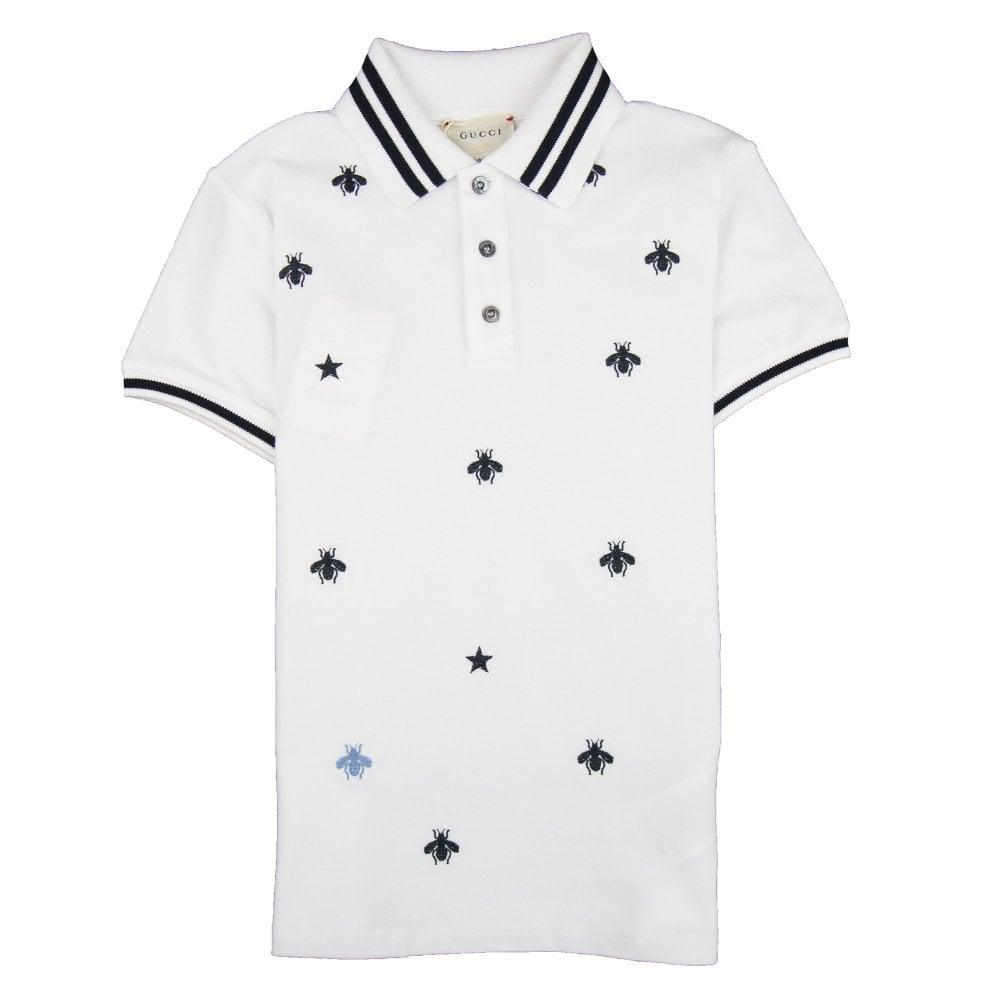 e247b764c5 Bees And Stars Polo Shirt White 9061