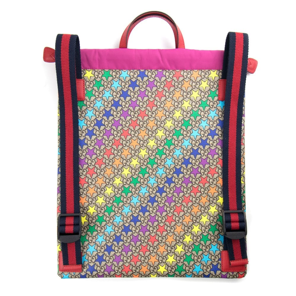 94d50704824 Gucci Junior GG Rainbow Star Backpack Multi