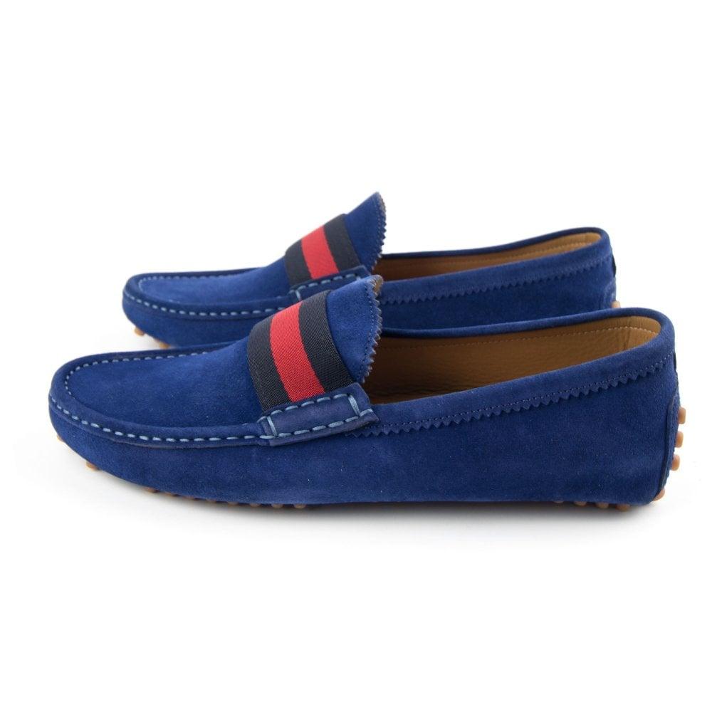 29ebbcade67 Gucci Queen Suede Loafer Blue