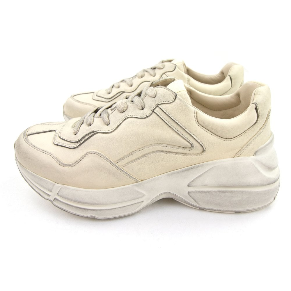 Gucci Rhyton Leather Sneaker Ivory 9522