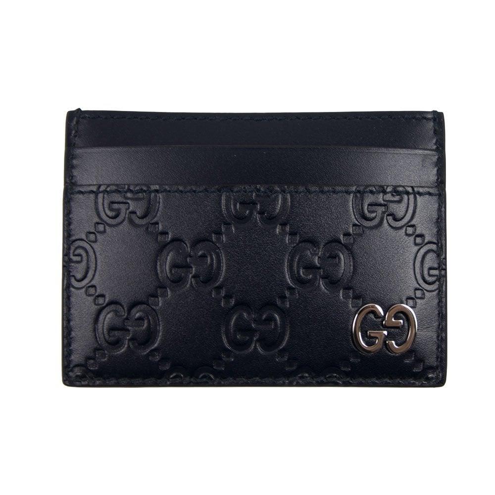 e6ac9f6006aa Gucci Signature GG Card Holder Blue | ONU