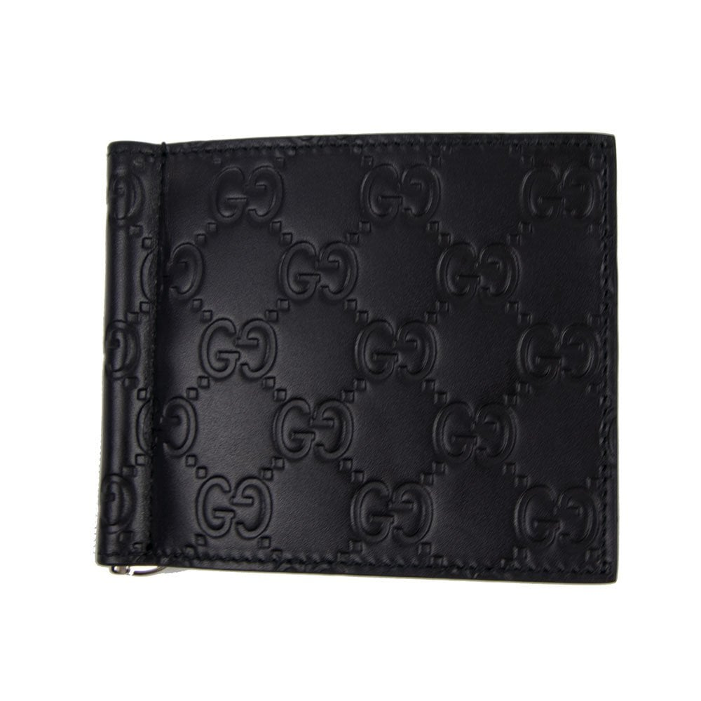 bc73951179c Gucci Signature Money Clip Wallet Black