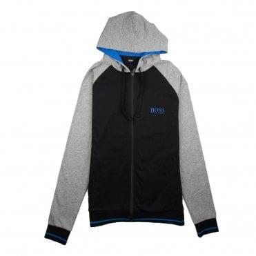 601c86061 Hugo Boss Authentic Logo Zip Up Hoody Black/Blue