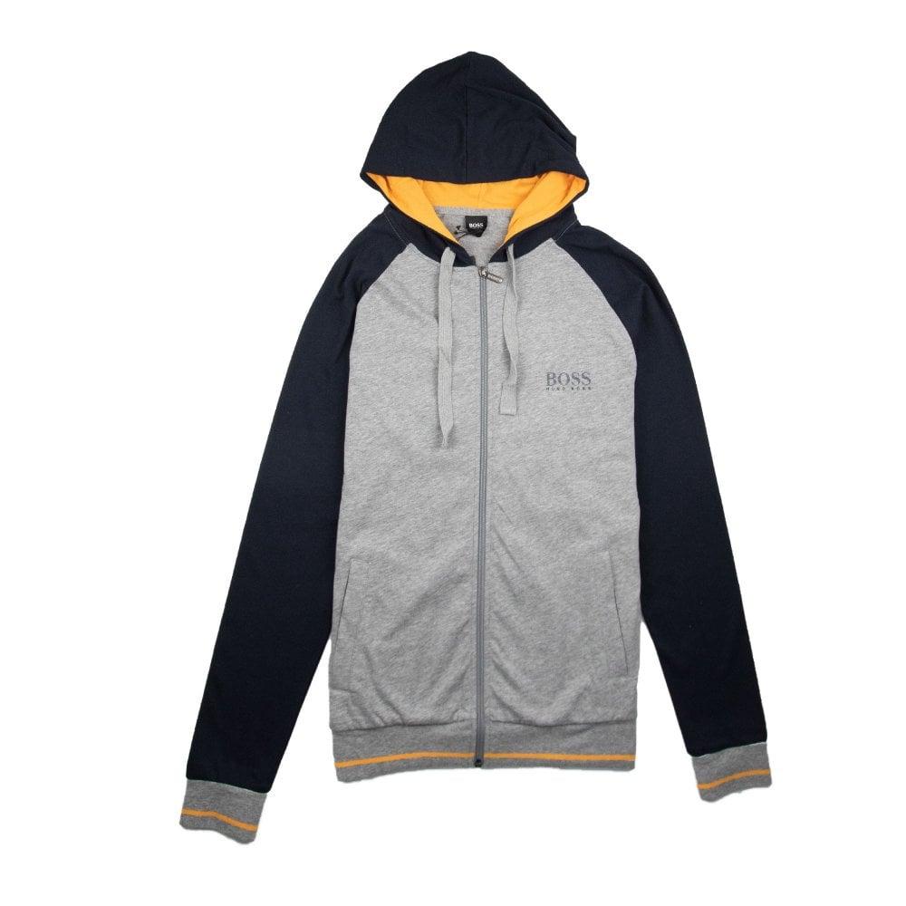 59afeaf52 Hugo Boss Authentic Logo Zip Up Hoody Grey/Blue/Orange   ONU