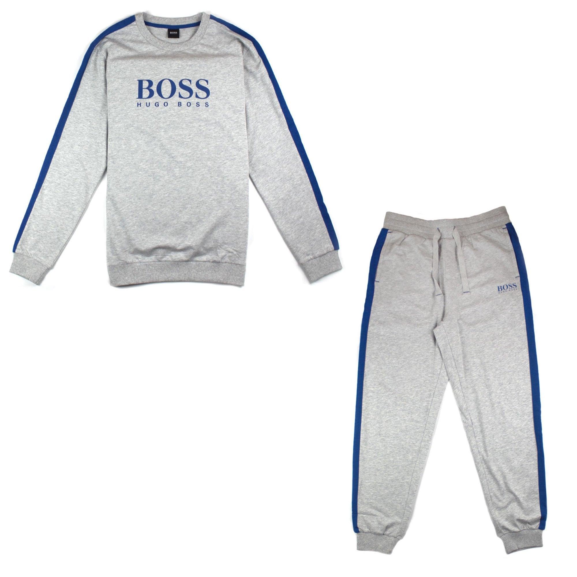 hugo boss full tracksuit grey
