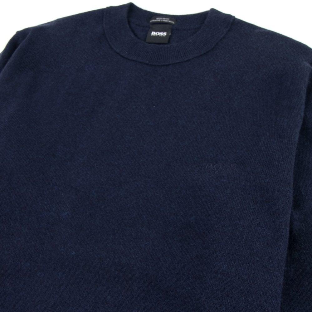 hugo boss sweatshirt navy blue