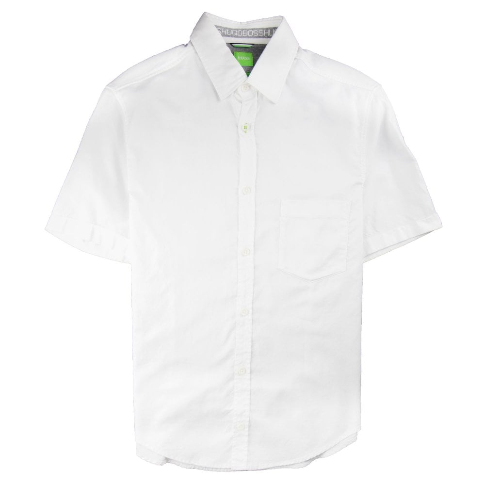 617274980 Hugo Boss Baloy Short Sleeve Shirt White | ONU