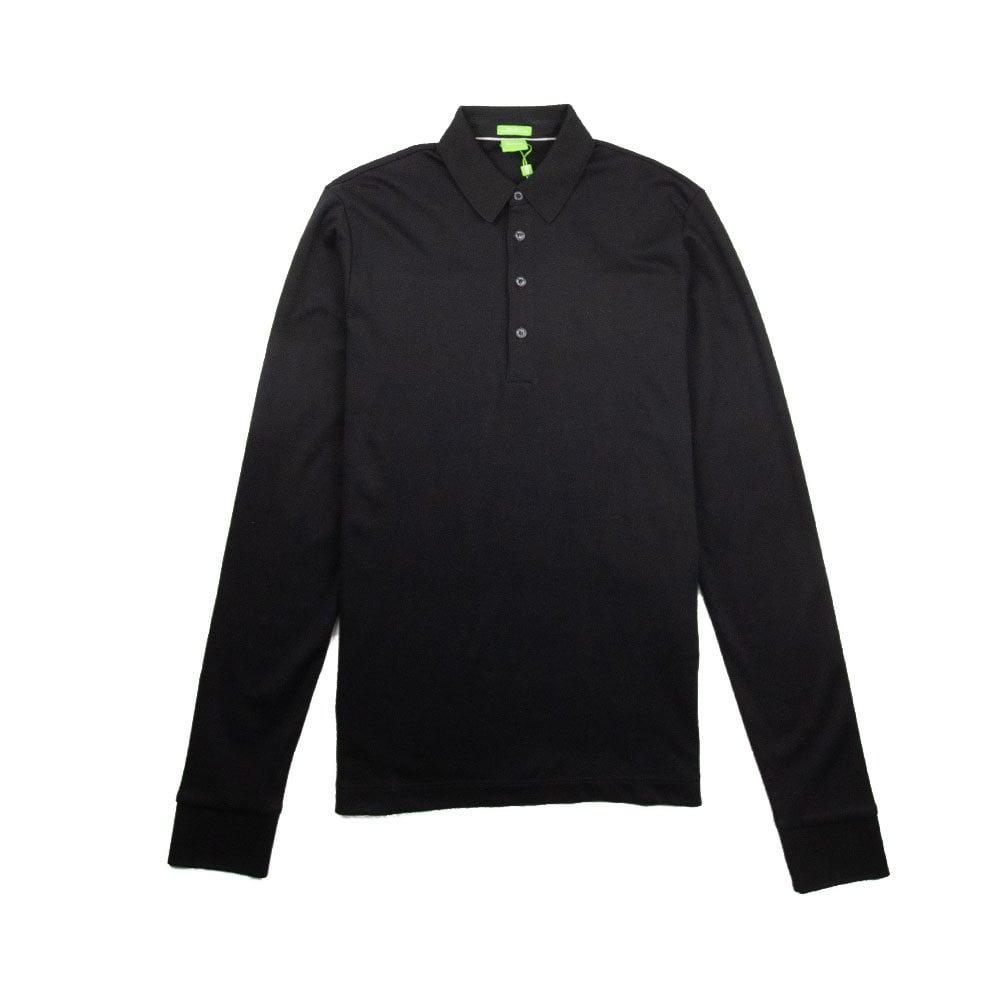 9b2ec37b8 Hugo Boss C-Paderna 30 Long Sleeve Polo Black