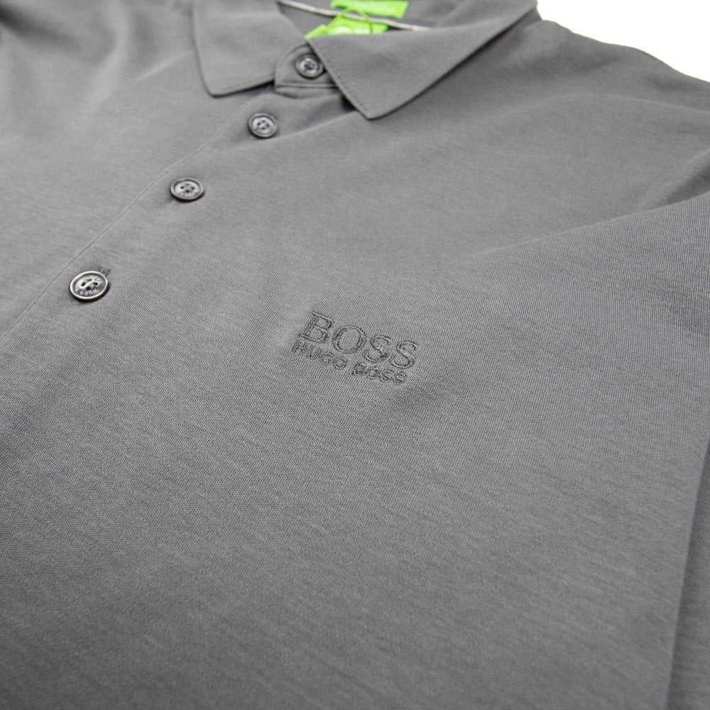 e5b625ab2 Hugo Boss C-Paderna 30 Long Sleeve Polo Dark Grey