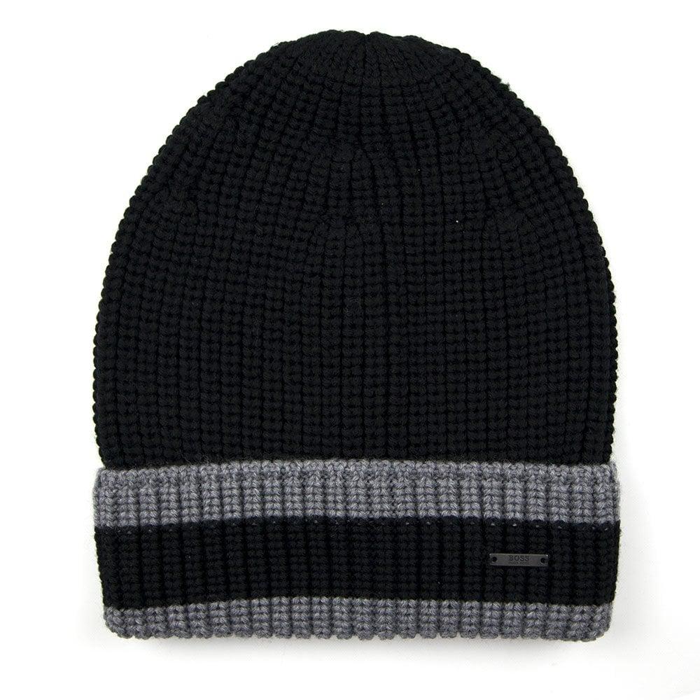 Hugo Boss Febbio Beanie Hat Black  8556e252f85