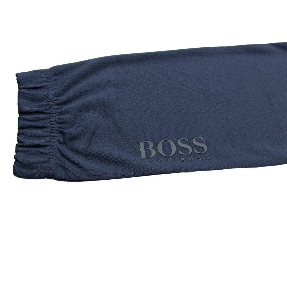Hugo Boss Hadiko Embossed Logo Tracksuit Bottom Navy