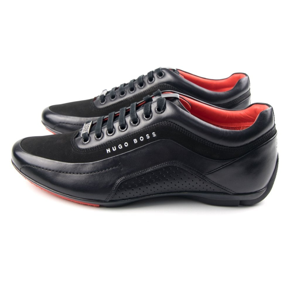 997514231e7 Hugo Boss HB Racing Shoe Black  amp  Red Trainers