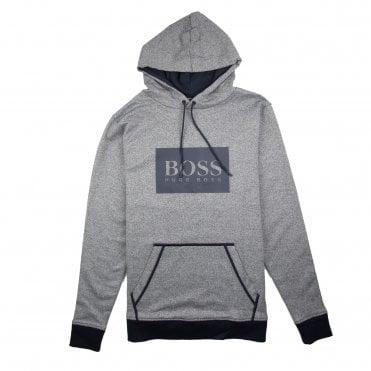 4a8666fb2 Hugo Boss Heritage Logo Hoody Light Grey