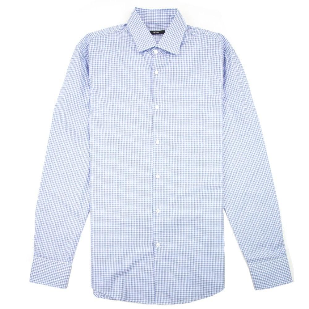 017f1ef3 Hugo Boss Jenno Check Shirt Sky Blue | ONU