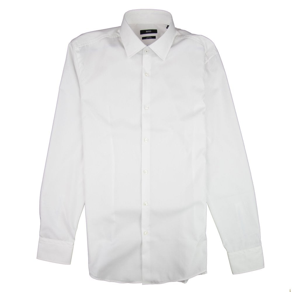 72adf47fd Hugo Boss Jerris Inside Check Shirt White | ONU