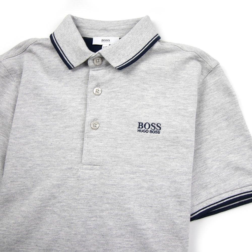 4928d06fc8d Hugo Boss Kids Basic Logo Polo Grey Navy