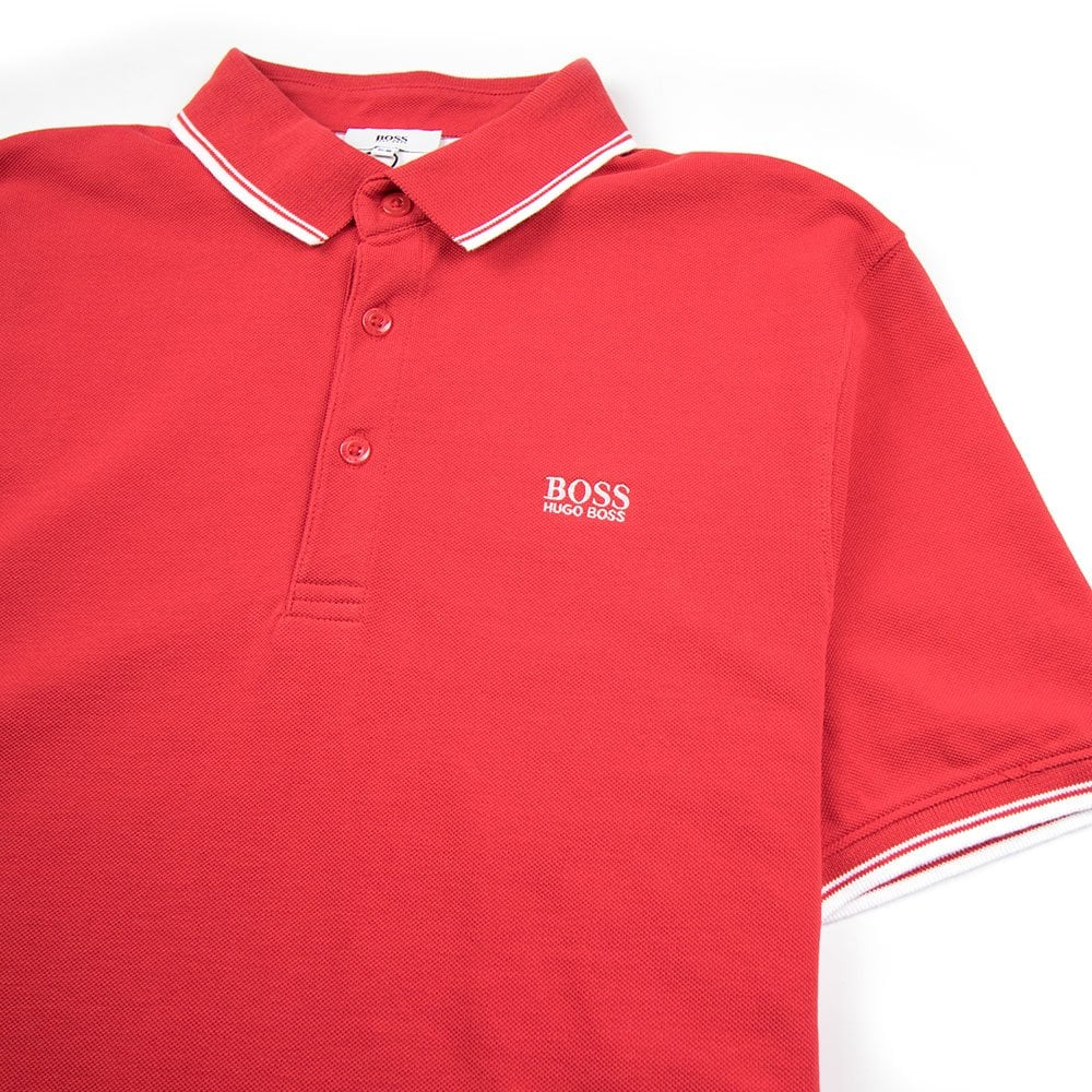 097a6f0ee3dd8 Hugo Boss Kids Basic Logo Polo Red | ONU