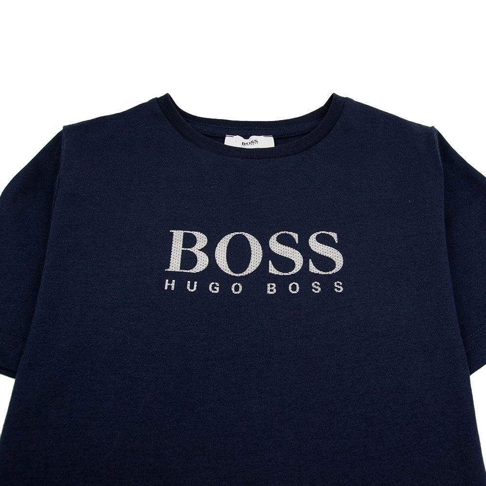 1c27aecca Hugo Boss Kids Chest Logo T-Shirt Navy | ONU