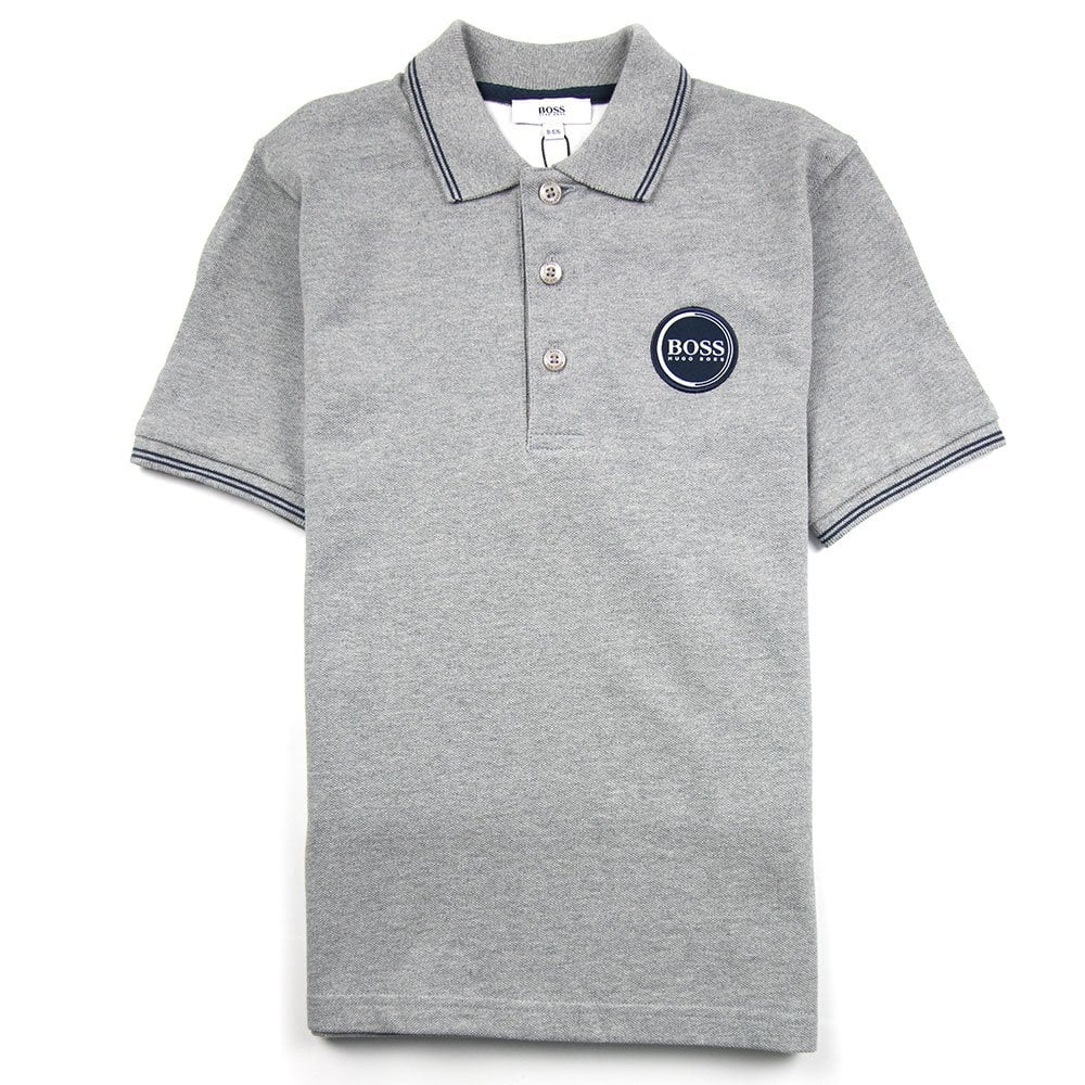af2ee5e9a Hugo Boss Kids Circle Logo Polo Grey | ONU