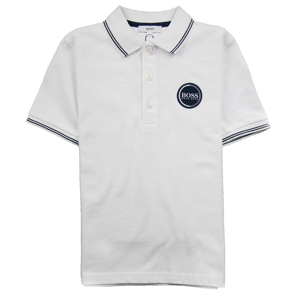 92824072 Hugo Boss Kids Circle Logo Polo White | ONU