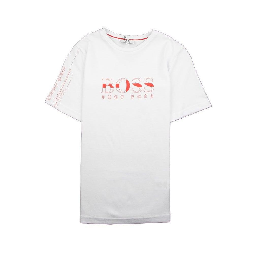 c287a7a9 Hugo Boss Kids Football 'England' T-Shirt White