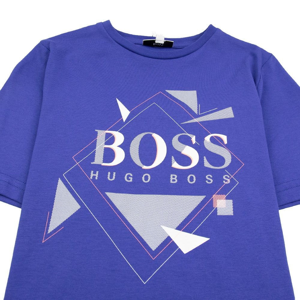 7b9c1f93 Hugo Boss Kids Geometric Logo T-Shirt Electric Blue | ONU