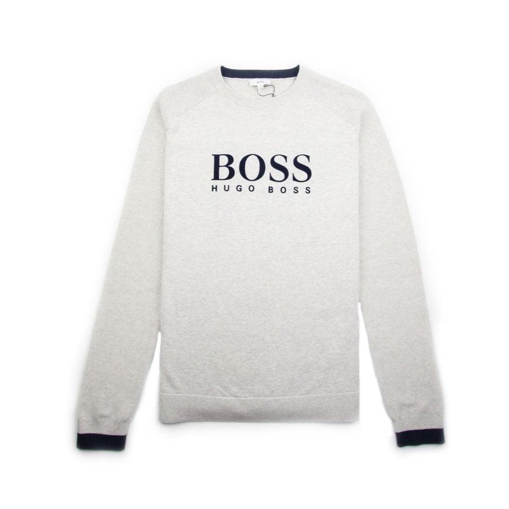 c8b645ba8 Hugo Boss Kids Knitted Sweatshirt Grey   ONU