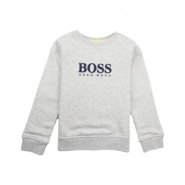 eac2ee2ee Hugo Boss Kids Logo Sweatshirt Grey