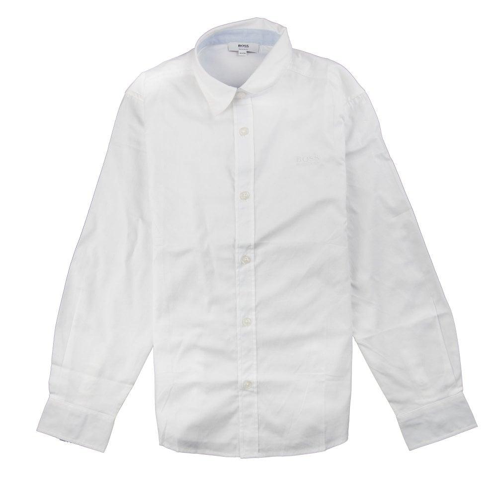 f966a90ef Hugo Boss Kids Long Sleeve Shirt White | ONU