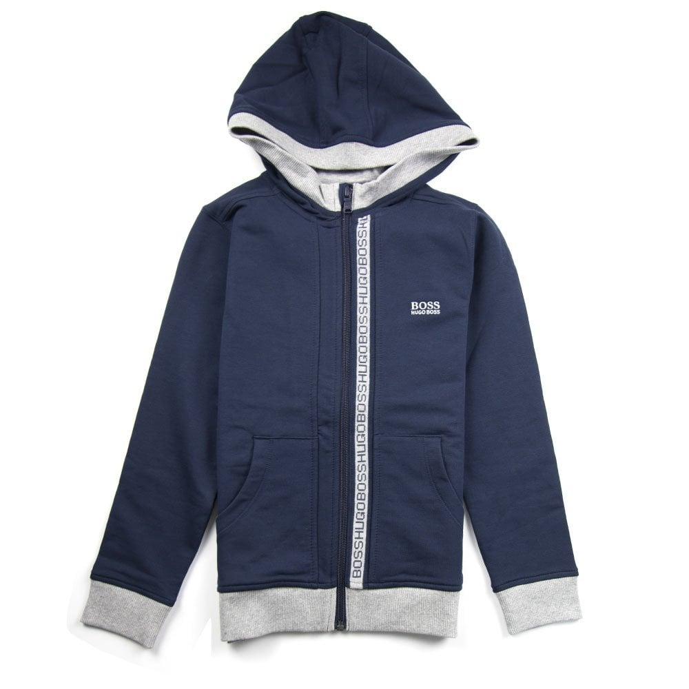 d96571593436 Hugo Boss Kids Zip Hoody Navy