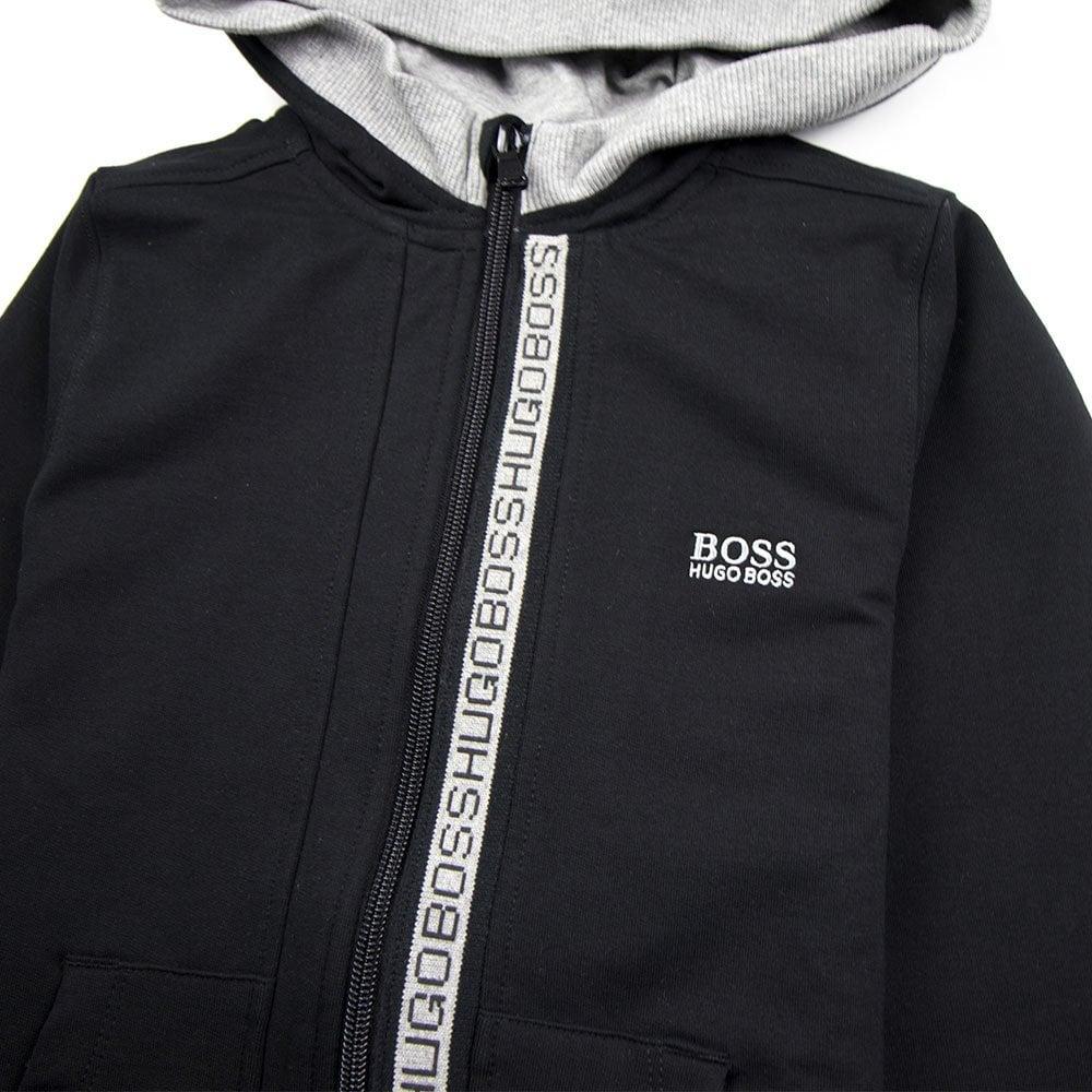 9e1bba65 Hugo Boss Kids Zip Logo Tracksuit Black - Junior from Onu UK